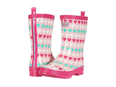 Hatley Kids Multicolor Hearts Shiny Rain Boots (Toddler/Little Kid) (Pink) Girls Shoes
