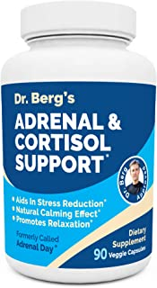 Dr. Berg's Adrenal & Cortisol Support Supplement - Natural Stress & Anxiety Relief for a Better Mood, Focus and Relaxation...