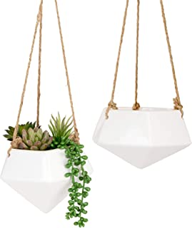 Nattol Hanging Planters, Ceramic Hanging Plant Pot for Indoor Plants, Planter for Wall Décor