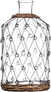 Sullivans G8139 Wire Pattern Bottle, 5.5 L x 5.5 W x 10.5 H Inches, Clear