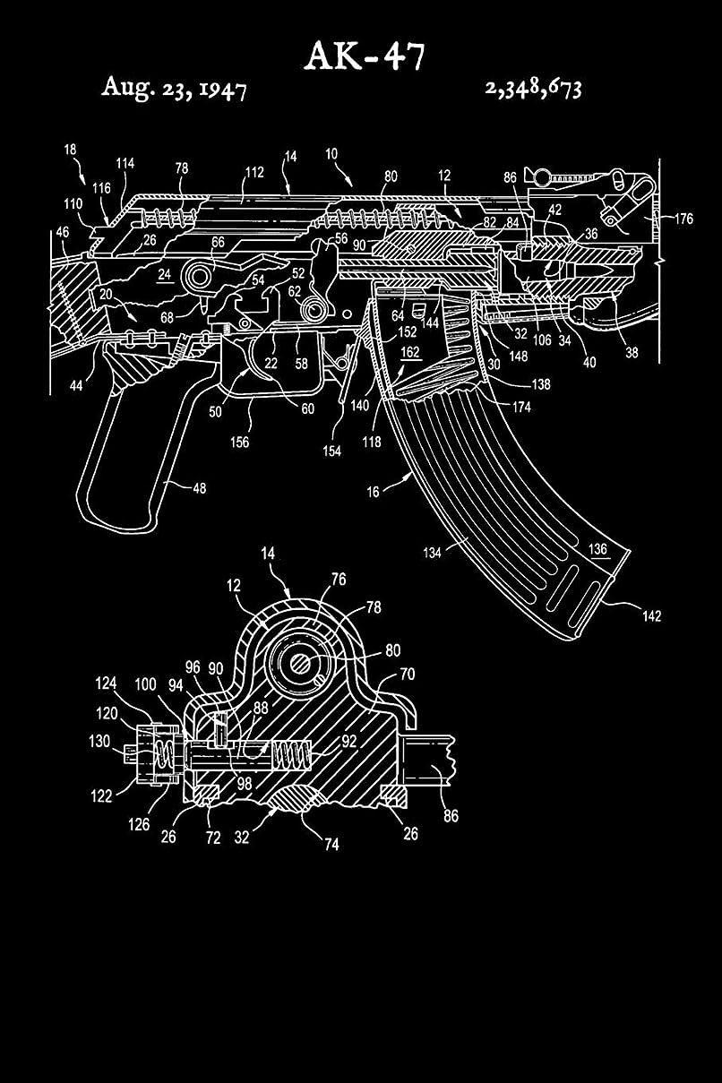 小さな眩惑する温度AK-47: AK47 Book - 2019 Calendar - Weekly Planner - Vintage Gun Russian Rifle Shooting Range Planning Log