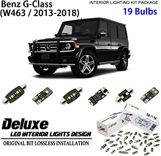 ZIYO ZPL5633 (19 Bulbs) Deluxe LED Interior Light Kit 6000K Xenon White Dome Light Bulbs Replacement for 2013-2018 Mercedes Benz G Class W463