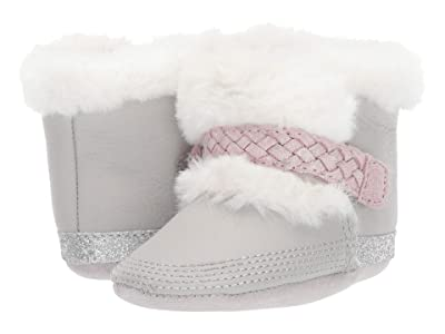 Robeez Montana Cozy Bootie Soft Sole (Infant/Toddler) (Grey/Pink) Girl