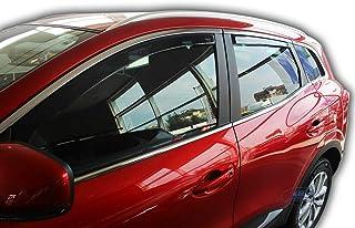 NISSAN JUKE 5 Portes SUV 2010-Onwards Arrière Set Vent Déflecteurs teintées Rain Guards