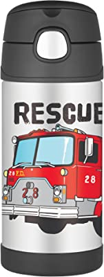 Thermos FUNtainer Vacuum Insulated Drink Bottle, 355ml, Fire Truck, F4011HR6AUS