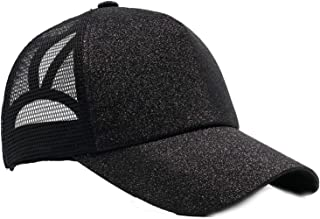 Shinny Ponytail Baseball Cap for Women Summer Mesh Cap Sun Hat Bun Baseball Hat Snapback 58-62cm Outdoor