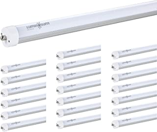 LUMINOSUM, T8 8 Feet LED Tube Single Pin, 40W (80W equivelant), FA8 Base, Milky Cover, Cool White 6000k, AC110-277V, ETL Certified, 20-Pack