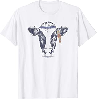 Boho Cow with Feather Headband Shirt - Funny & Trendy Ranch