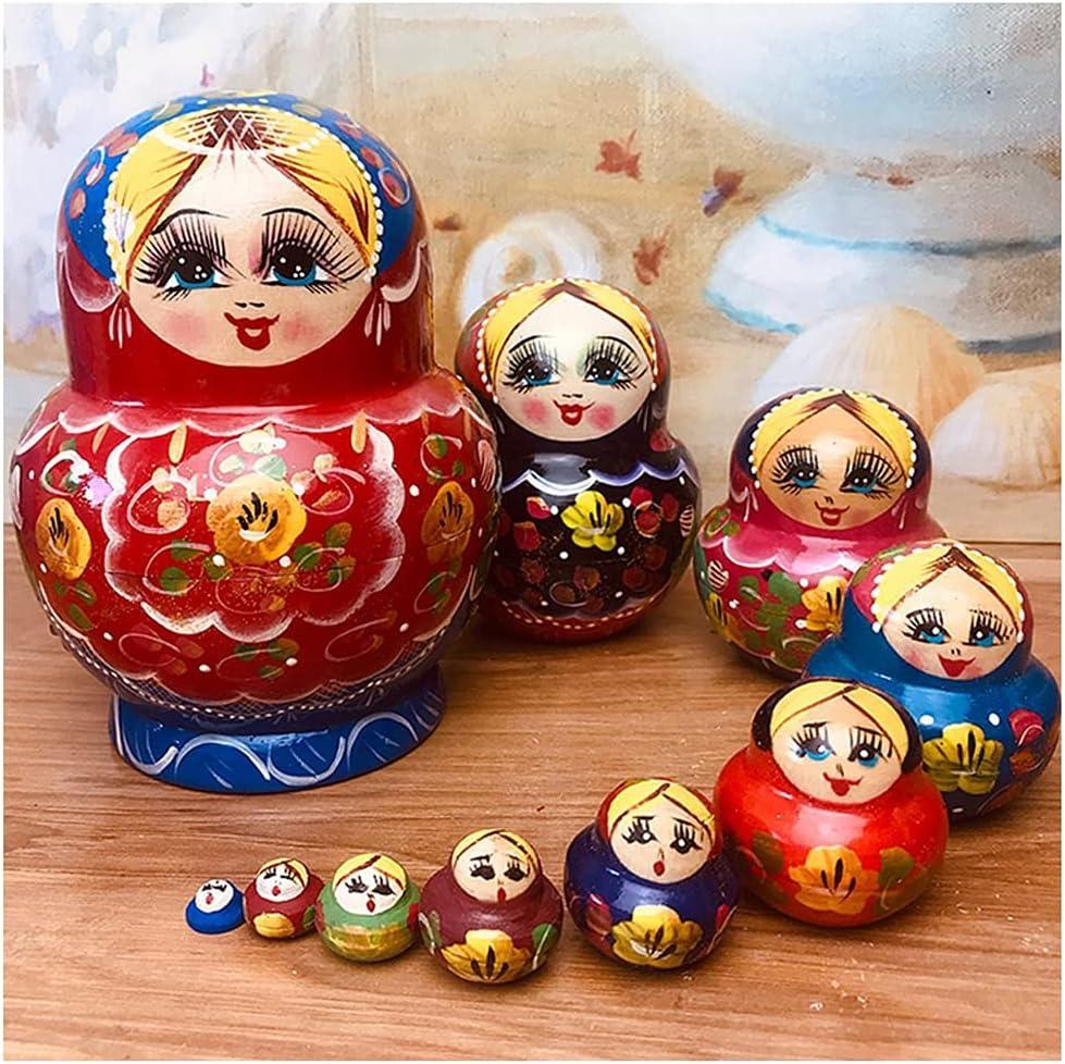 ZANZAN Matryoshka Set Max 83% OFF of Rare 10 Multicolor Hand Toy Doll Russian