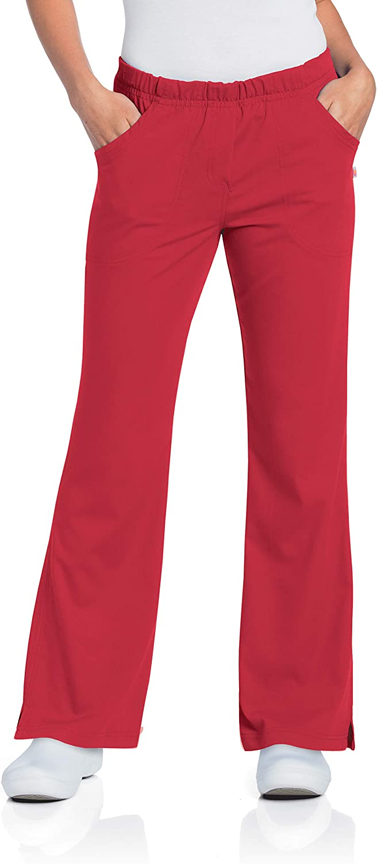 Urbane Elastic Waist Medical Scrub Pants Red True New color Financial sales sale 5XL
