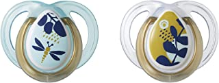 Tommee Tippee Closer to Nature Moda Baby Pacifier, BPA-Free, 0-6 Months, 2 Count (Colors May Vary)