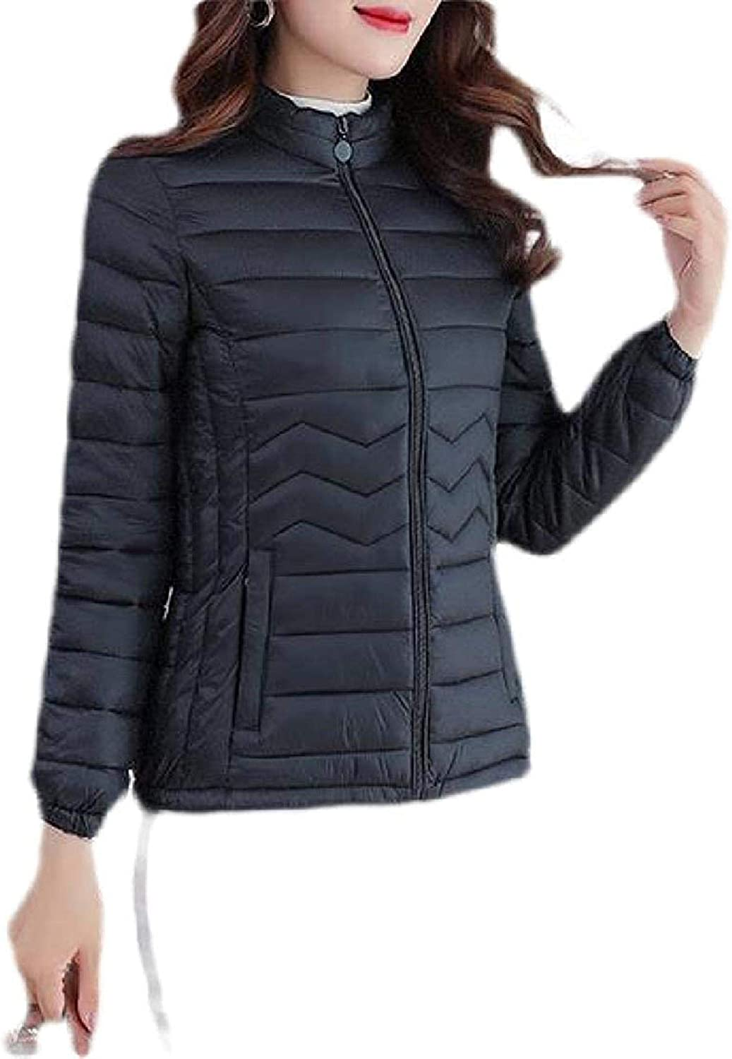 Women's Thicken Collar Stand Down Winter Jacket Quilted Parka Coat