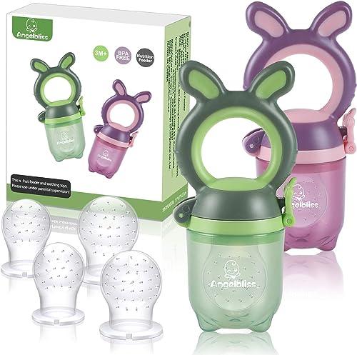ANGELBLISS Tétine d'alimentation pour bébé/Tétine à fruit/tetine grignoteuse bebe/Jouet de dentition pour bébé aux ap...