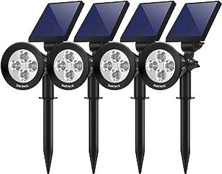 Nekteck 4 Pack Solar Lights,2-in-1 Outdoor Solar Spotlights Powered Adjustable Wall Light..