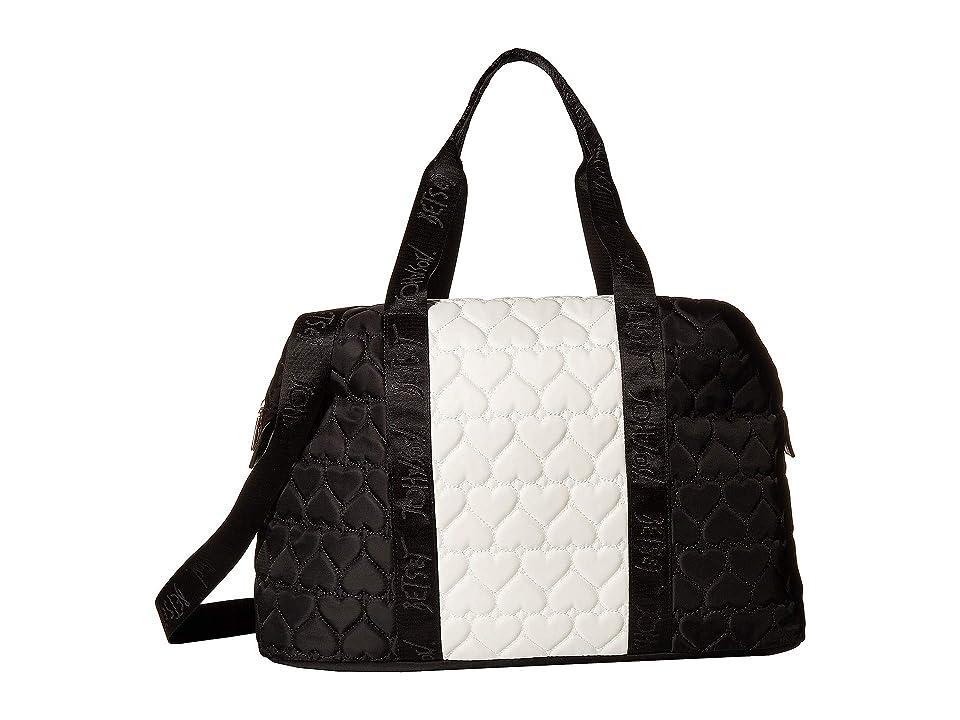 Betsey Johnson Printed Backpack (Black/White) Backpack Bags