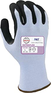 Armor Guys 04-300 (XL) 1 Extraflex, 15g, Yellow Engineered Yarn, Black HCT MicroFoam Nitrile Palm Coating (One Pair), XL, Blue