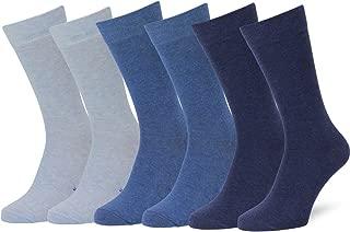 Solid & Pattern Men's Socks Combed Cotton Dress Socks