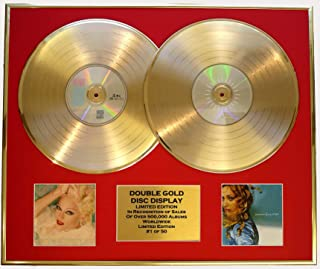 EC MADONNA/DOUBLE CD GOLD DISC DISPLAY/LTD. EDITION/COA/BEDTIME STORIES & RAY OF.