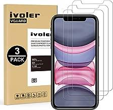 iVoler [Pack de 3] Verre Trempé pour iPhone 11 / iPhone XR 6.1 Pouces, Film Protection en Verre trempé écran Protecteur vitre