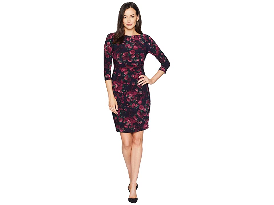CHAPS Solange Aliceville Floral (Navy/Maroon) Women