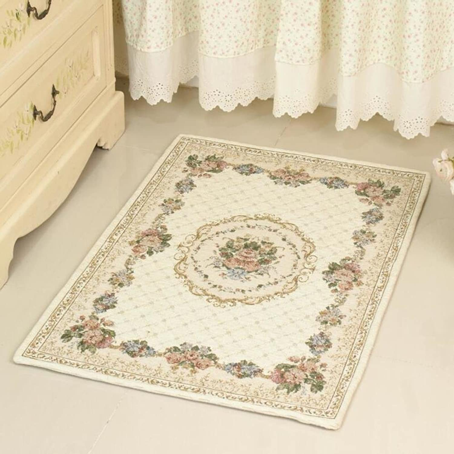 Doormat Rug Floor mat with European Style and Strong Water Dirt Absorption Anti-Slip Ability-K 70x140cm(28x55inch)