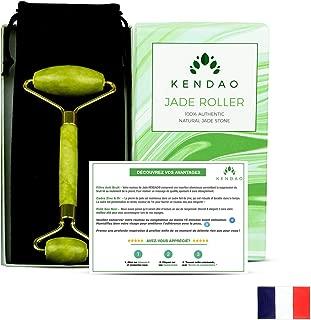 KENDAO Rouleau Jade Veritable Naturelle     Massage Froid Visage Anti Age     Medecine Traditionnelle Chinoise Favorisant Relaxation     Pierre Jade pour Visage Yeux     Marque francaise