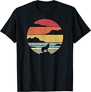 Wolf Shirt. Retro Style T-Shirt