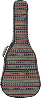ZHRUNS Guitar Bag Bohemian Acoustic Guitar Case Soft Foam Padded 40/41 Inch Guitar Gig Gag Backpack with Neck Protector Pillow Pad,Dual Shoulder Strap&pocket (Green pattern)