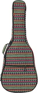 ZHRUNS Guitar Bag Bohemian Acoustic Guitar Case Soft Foam Padded 40/41 Inch Guitar Gig Gag Backpack with Neck Protector Pillow Pad,Dual Shoulder Strap&pocket (Green pattern)