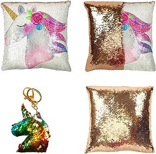 sequin pillow unicorn