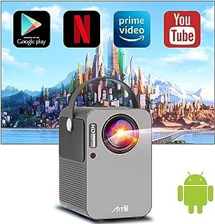 Android TV搭載 モバイルプロジェクター Artlii play 双方向5.0Bluetooth技術 小型 WiFi 無線接続 1080P対応 4P台形補正 ズーム機能 ドルビー対応 ポータブル 持ち運び 内蔵スピーカー 3年保証