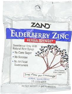 Zand Herbal Lozenge-Elderberry Zinc 15 Lozenge (12 Pack)