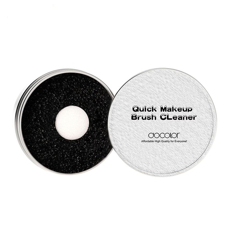 最終レルム尾メイクブラシクリーナー スポンジ ドライクリーナー-DOCOLOR ブラシ用クリーナー 携帯用 何度も使える