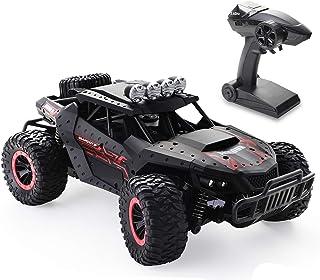 Tech rc ラジコンカー こども向け 1/16 オフロード 電動RCカー 乗り越え抜群 ドリフト 2WD リモコンカー バッテリー2個付き 35分間走れ 2.4Ghz無線操作 時速20KM/H 防振 初心者向け ブラック