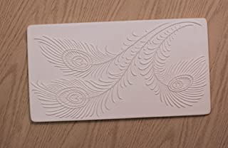 Peacock Feathers Texture Tile Mold for Glass Slumping Retails $27