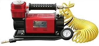 SuperFlow MV-9012 voltios compresor de aire, bomba de aire portátil de alta resistencia 12 V compresor de aire, inflador de neumáticos 150 PSI, por para vehículos todoterreno, camiones, vehículos recreativos, bicicletas y coches
