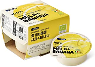BeBecook Organic Golden Apple & Banana Cup Puree, 200 g