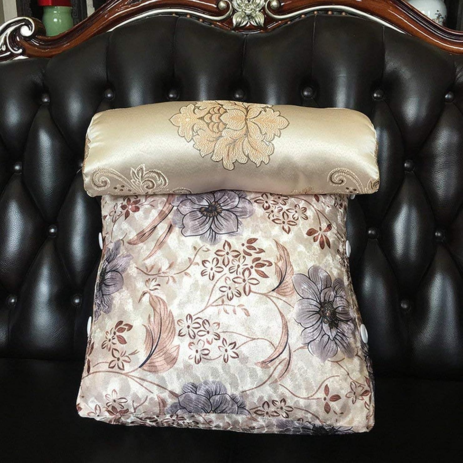水差しスリーブすべき2J-QingYun Trade ソファー三角ウェッジ、マットベッドサイドバッククッション個別枕オフィスバックレスト枕 (Color : E, サイズ : 45x45x22cm(18x18x9inch))