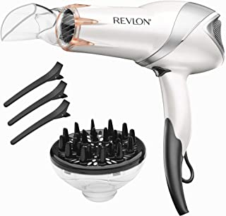 REVLON 1875W Infrared Heat Hair Dryer for Fast Drying and El