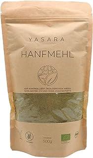 YASARA Bio Hanfmehl - hoher Eiweißgehalt - reich an Ballaststoffen – vielseitig anwendbar – vegan, natürlich und glutenfrei - aus EU Hanfsamen gewonnen - DE-ÖKO-001