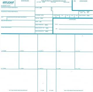 FBI Fingerprint Cards, Form FD-258, 3 pack