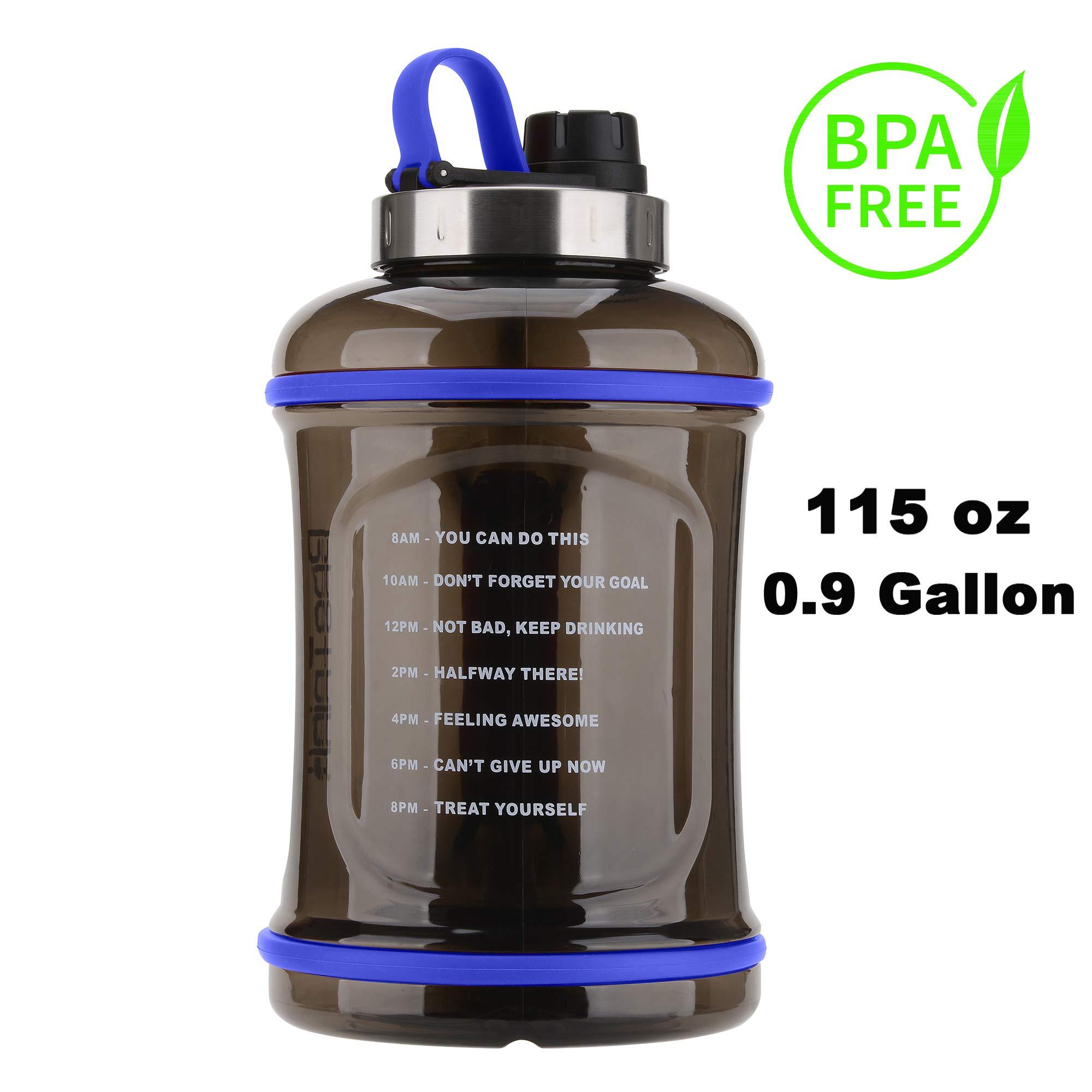 3.2L ProTrink Gallon Water Bottle Motivation with Time Marker//Large Water Jug//Dishwasher Safe//Leakproof//Odor Resistant//Durable//BPA Free// 115 oz