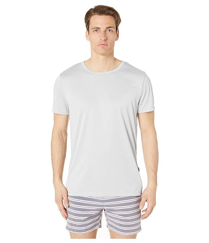 onia Short Sleeve Swim Tee (Summer Fog) Men