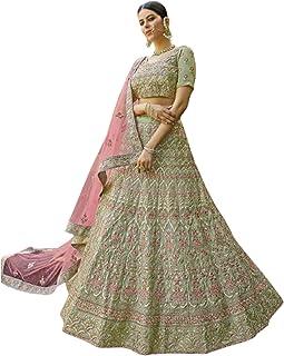 فستان بوليوود بتصميم نسائي هندي خاص لحفلات الزفاف جورجيت ليهينغا شولي صافي دوباتا 6083