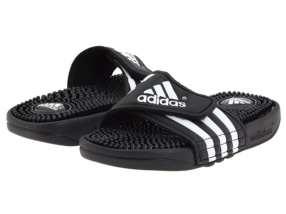 adidas Kids Adissage K Core (Toddler/Little Kid/Big Kid) (Black/White) Kids Shoes