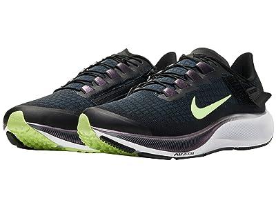 Nike FlyEase Air Zoom Pegasus 37 (Black/Ghost Green) Men