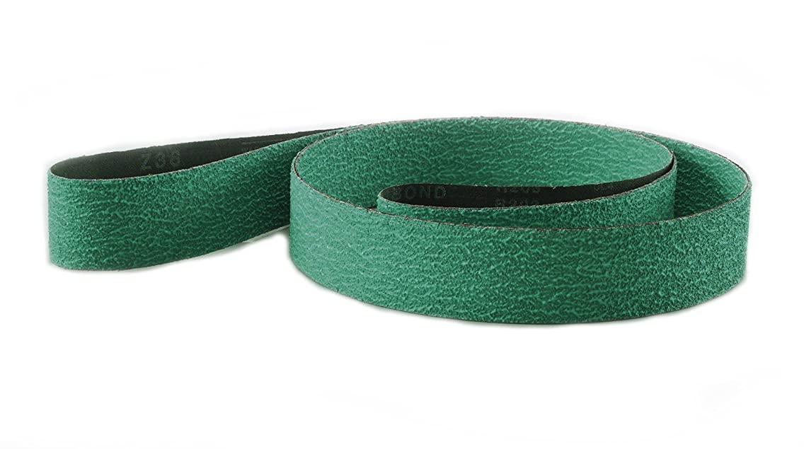 Sungold Abrasives 67611 40 Grit Green Green Zirconia Plus Sanding Belts (Pack of 6), 2