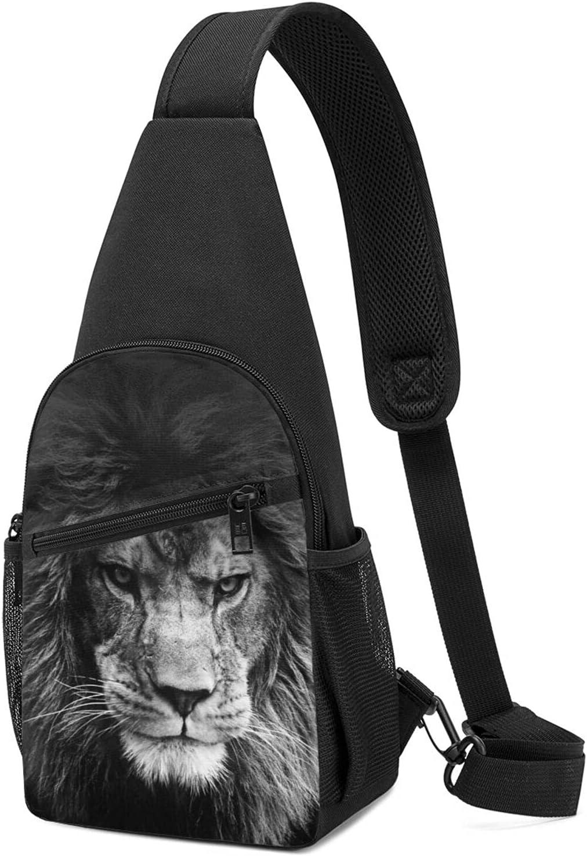 Crossbody Bombing new work Sling Backpack Men Women Multifunction Animal Lion Sli 2021 autumn and winter new