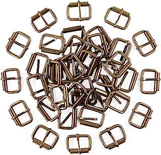Swpeet 60Pcs 1 Inch / 25mm Bronze Heavy Duty Multi-Purpose Metal Roller Buckles Metal Rings for Belts Hardware Bags Ring H...
