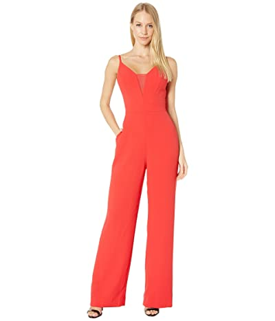 BCBGMAXAZRIA Wide Leg Jumpsuit (Jewel Red) Women